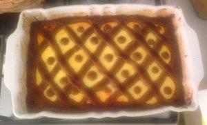 Crostata agli agrumi con farina di canapa