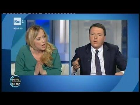 FANTASTICO confronto tra Giorgia Meloni e Matteo Renzi – ASSOLUTAMENTE DA VEDERE !