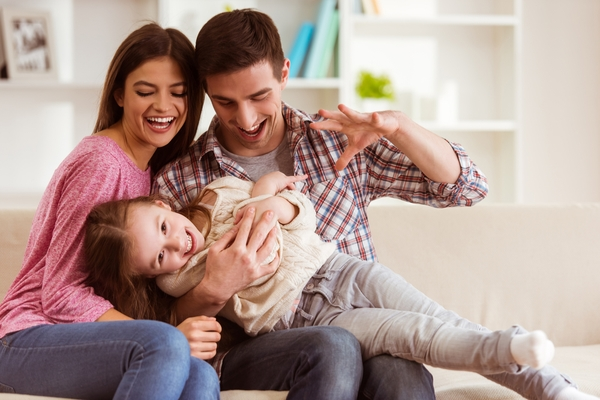 famiglia felice autostima