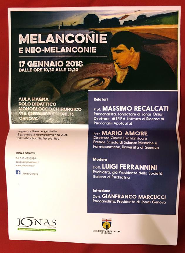 MELANCONIE  E NEO-MELANCONIE – Massimo Recalcati Mario Amore