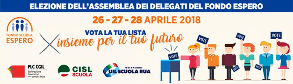 Fondo Espero: il 26, 27 e 28 aprile si voterà per il rinnovo dell'assemblea dei soci del Fondo