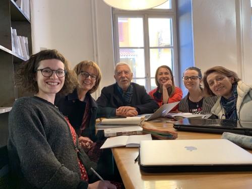 Da sinistra: Agnese Baini, Kerry Morrison, Peppe Dell'Acqua, Aurora Fantin, Allegra Carboni, Michela Rondi / Trieste, 8 marzo 2019