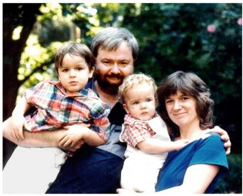 La famiglia Powers nel 1985