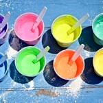 Ghiaccioli in gesso colorato