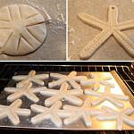 Stelle marine di pasta sale