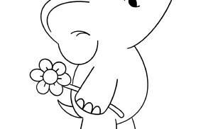 Elefanti da colorare