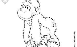 Gorilla da colorare