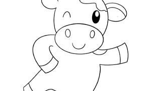 Mucche da colorare