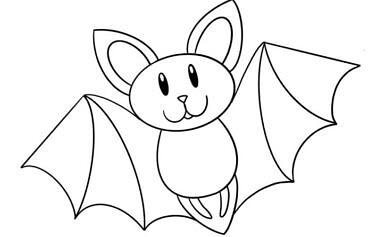 Pipistrelli da colorare