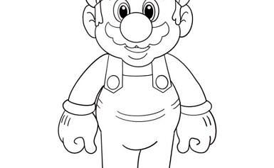 Super Mario da colorare